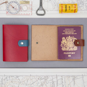 A Passport Wallet Made From Bridle Leather - passport & travel card holders