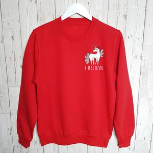 Ladies 'I Believe' Christmas Sweatshirt Jumper - christmas jumpers