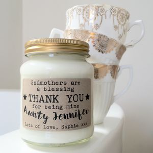 Personalised 'Godmothers Are A Blessing' Soy Candle - what's new