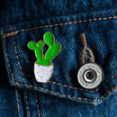 Mini Cactus Pin Badge