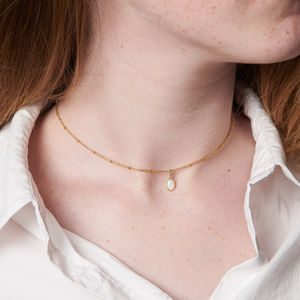 Delicate Chain With Opal Choker - what's new