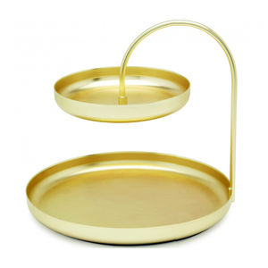 Brass Two Tier Trinket Ring Dish - bedroom