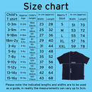 Children's and Men's Tshirt Size Chart
