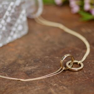 Nine Carat Gold Infinity Necklace