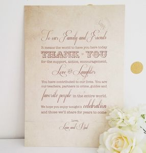 'Fly Away With Me' Wedding Thank You Sign