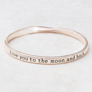Love You To The Moon And Back Bangle - jewellery sale