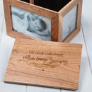 Personalised Christening Oak Photo Keepsake Box
