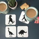 Personalised Dinosaur Family Coaster Set