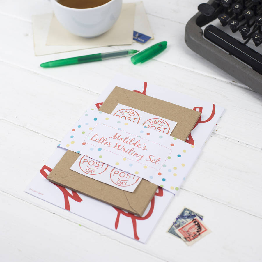 personalised wordy letter writing set