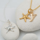 Starfish Necklace With Personalised Message Card