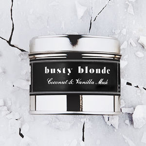 'Busty Blonde' Coconut Musk Scented Candle - view all sale items