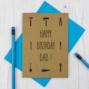 Dad Tool Silhouette Birthday Card - birthday cards