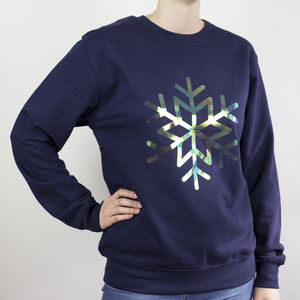 Iridescent Snowflake Sweatshirt - christmas jumpers