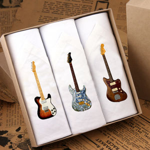 Box Of Three Men's Guitar Hankies