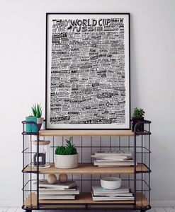 Football World Cup 2018 Typography Print