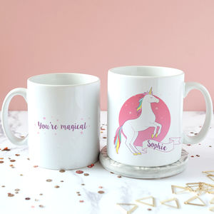 Personalised 'You're Magical' Unicorn Mug - summer sale