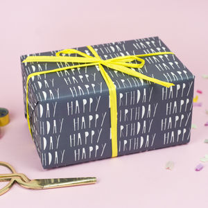 Happy Birthday Wrapping Paper - wrapping paper