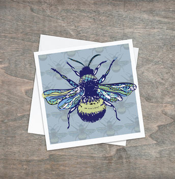 Contemporary Bee Greeting Card