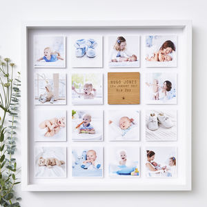 Personalised Framed Baby Photo Print - dates & special occasions