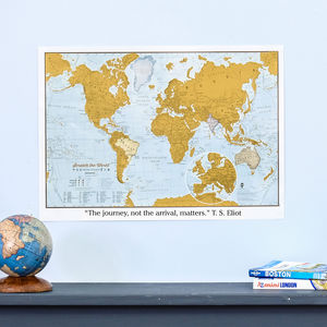 Personalised Scratch The World® Travel Edition Map - posters & prints