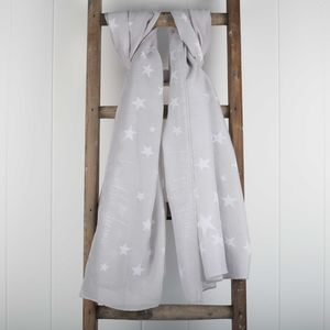 'Beautiful Dreamer' Designer Soft Grey Scarf - scarves
