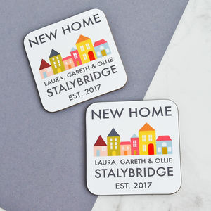 Personalised New Home Coasters