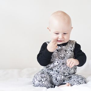 Unisex Candyskull Baby And Toddler Romper - clothing