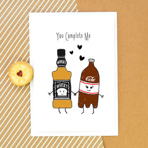 'You Complete Me' Whisky Card