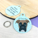 Boxer Personalised Dog Name ID Tag