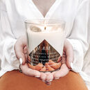 Personalised 'Positive Intention Quote' Crystal Candle