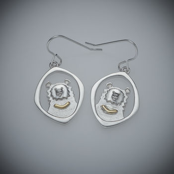 Moon Bear Earrings