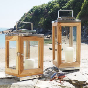 Outdoor Wooden Candle Lantern