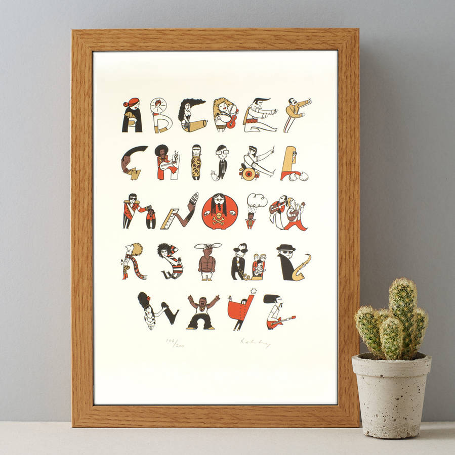 Music Alphabet A Z Gift For Music Lovers Print