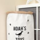 Personalised Dinosaur Pattern Paper Storage Bag