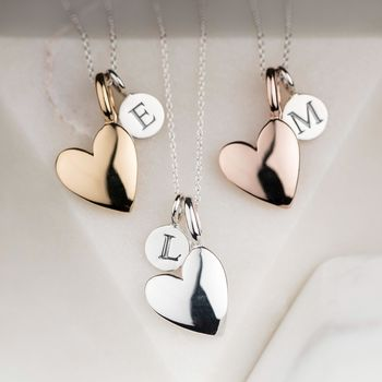'Totally Devoted' Personalised Heart Charm Necklace