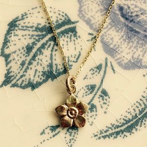 Blackberry Blossom Solid 9ct Yellow Eco Gold - summer sale