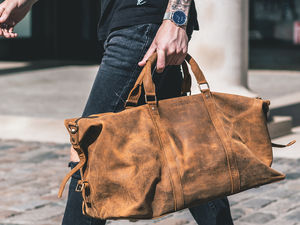 Leather Duffle Bag - gifts for teenagers