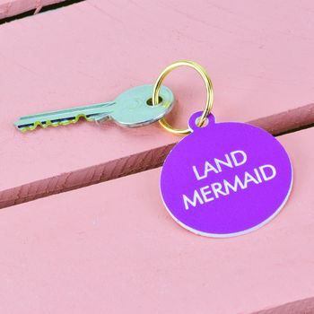 Land Mermaid Key Tag