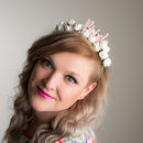 White Bride Hen Party, Hen Do Flower Headband Gift