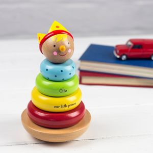 Personalised Traditional Stacking Toy - christening gifts