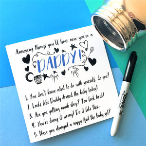 Funny 'Now You're A Daddy' Card - shop by category