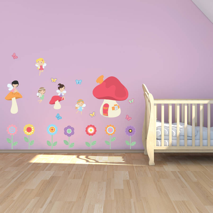 Fairy Garden Childrens Wall Stickers
