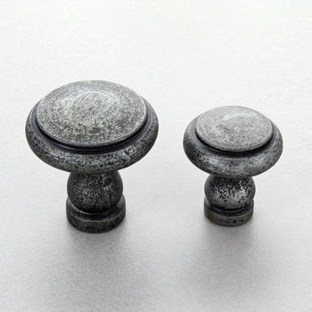 Ringed Pewter Cupboard Door Knobs Drawer Handles