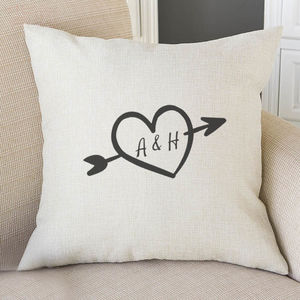 Personalised Valentines Heart Cushion Cover