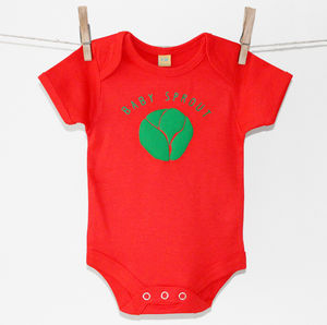 'Baby Sprout' Christmas Baby Grow