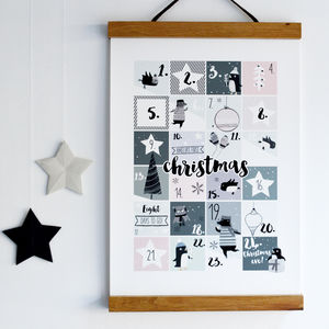 My Personalised Christmas Countdown Advent Print - christmas home
