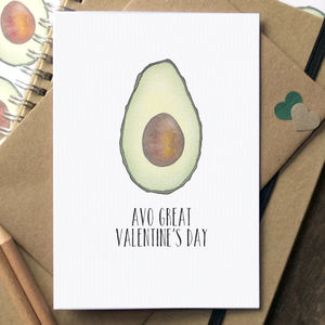 'Here You Go Avo Card O' Funny Avocado Birthday Card - valentine's cards