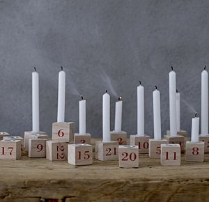 Set Of 24 Advent Candle Holders - christmas lighting