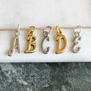 gold and silver add on letter charms