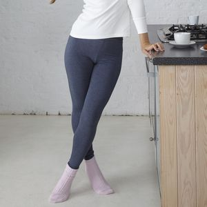 Lounge Leggings In Blue Marl - lounge & activewear